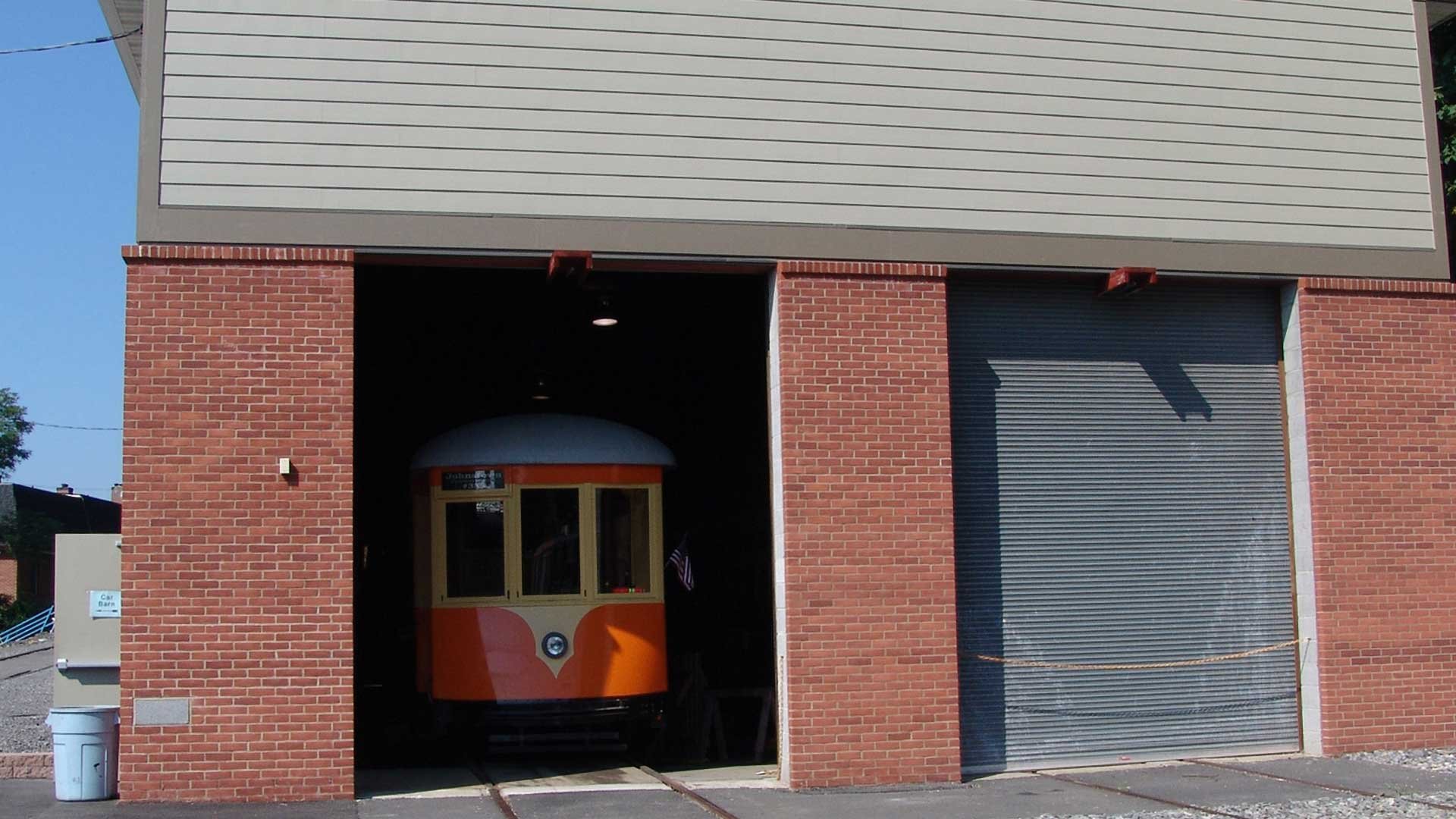 North side of the Kingston Trolley Museum after renovation
