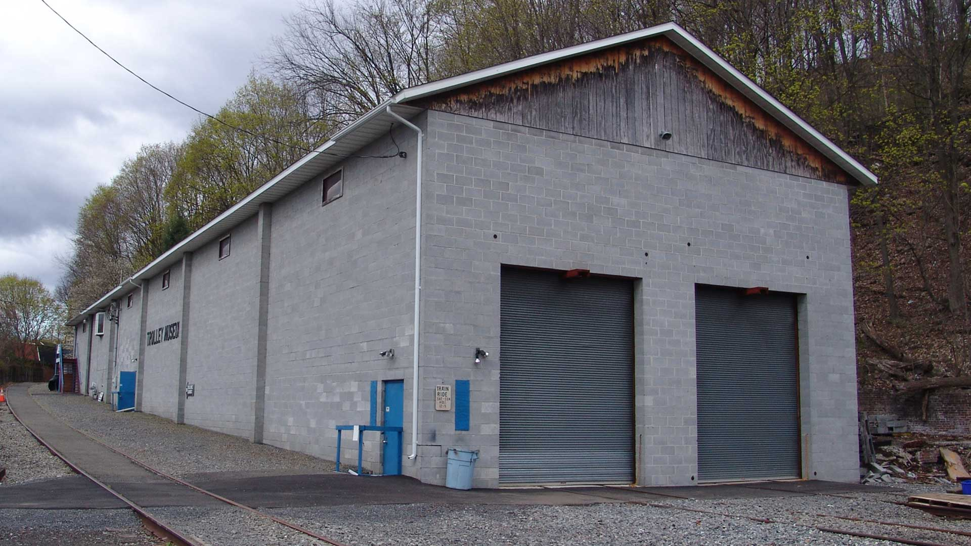 East side of the Kingston Trolley Museum before renovation