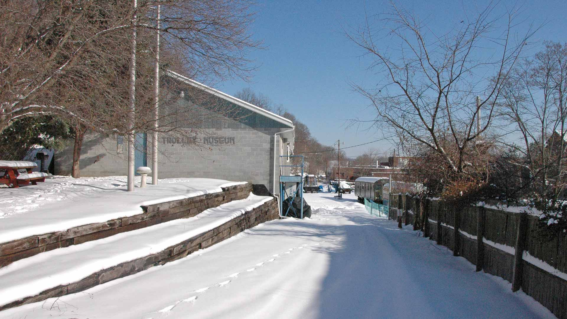 West side of the Kingston Trolley Museum before renovation