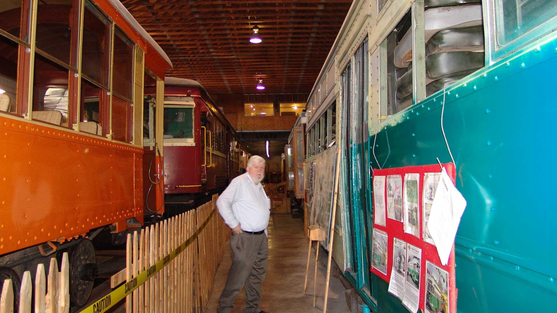 Inside the Kingston Trolley Museum