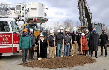 New Paltz Officials And Alfandre Architecture Team At Firehouse Groundbreaking Ceremony