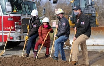 New Paltz Officials At Firehouse Groundbreaking Ceremony