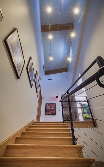 Alfandre Architecture staircase leading to office.