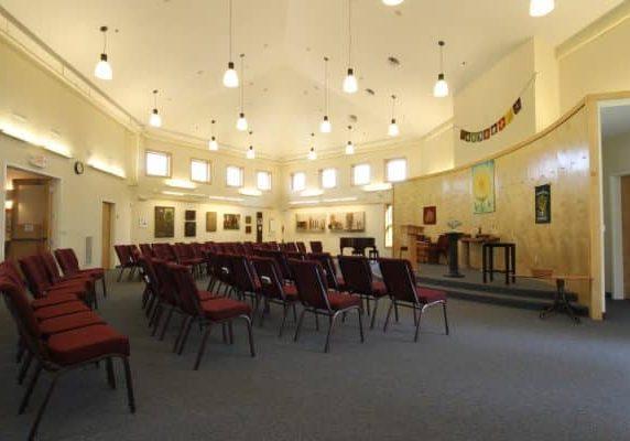 Main room of Unitarian Church.