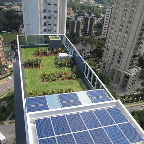 Aerial view of roof wetland