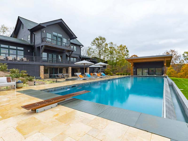 Modern home with in-ground pool