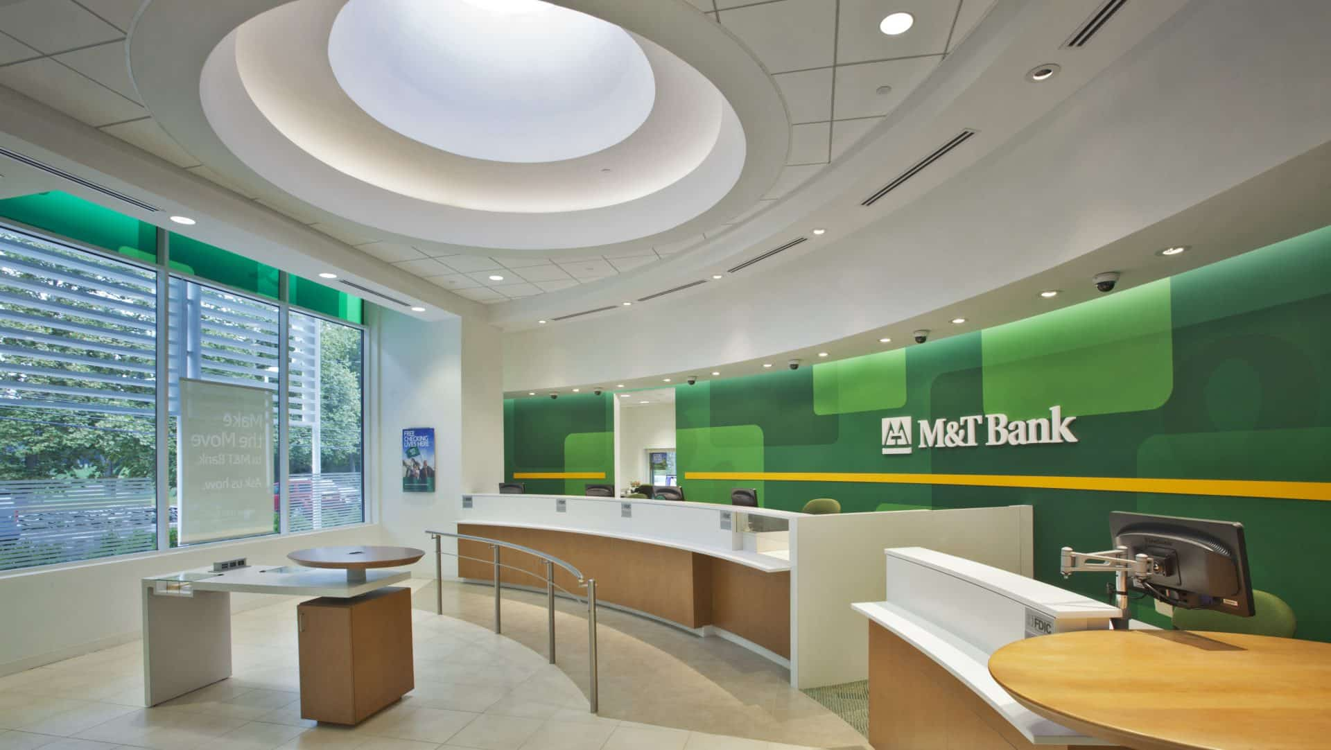 Interior view of M&T Bank - LEED Consulting Project